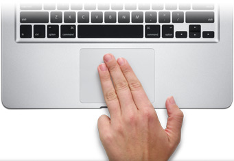 Using the Multi-Touch Trackpad with Keynote