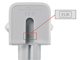 Redesigned Apple wall adapter