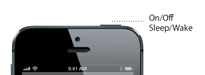 iPhone 5 sleep/wake button detail