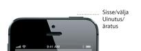 iPhone 5 uinaku-/äratusnupu üksikasjad