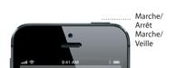Détails du bouton Marche/Veille de l'iPhone5