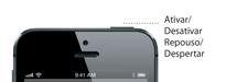 Detalhes do botão Repousar/Despertar do iPhone 5