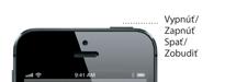 Detail tlačidla Spať/Zobudiť na iPhone 5