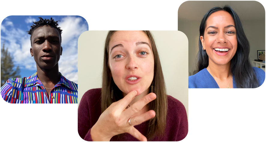 Sign language detection in a Group FaceTime call.